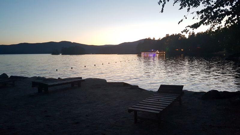 Chegada ao hotel no lago Turgoyat